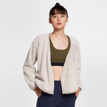 Nike Sherpa Wrap top Dames Bruin