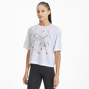 Puma Metal Splash Graphic shirt Dames Wit
