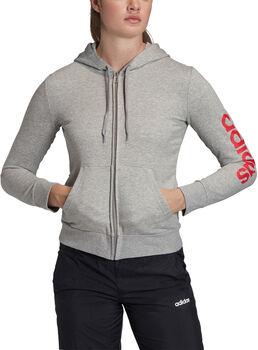adidas Essentials Linear hoodie Dames Grijs
