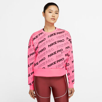 Nike Pro Fleece Crew sweater Dames Roze