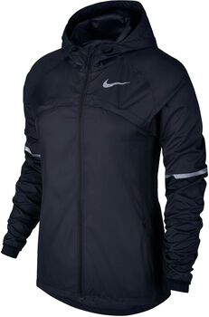 Nike Shield Hooded Running jack Dames Zwart