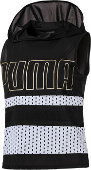 Puma Varsity SL Cover Up sweater Dames Zwart