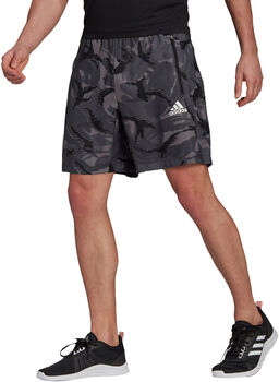 adidas Designed To Move Camouflage AEROREADY Short Heren Grijs