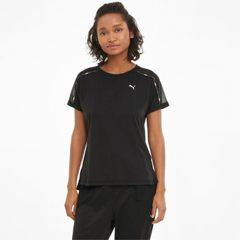 Puma Train Logo Boyfriend t-shirt Dames Zwart