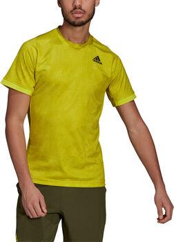 adidas Tennis Freelift Printed Primeblue T-shirt Heren Geel
