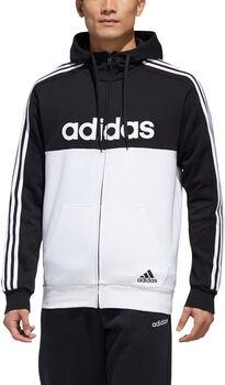 adidas Essentials Colorblock Hooded Trainingsjack Heren Zwart