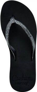 reef star cushion sassy slippers Dames Zwart