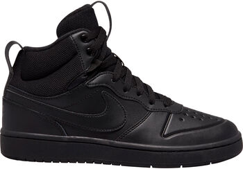 Nike Court Borough Mid 2 kids sneakers Jongens Zwart