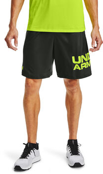 Under Armour Tech Wordmark short Heren Groen