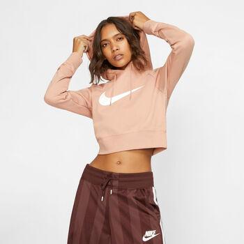 Nike Sportswear Swoosh Crop hoodie Dames Roze