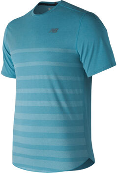 New Balance Q Speed Jacquard shirt Heren Blauw
