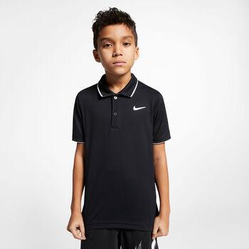 NikeCourt Dri-FIT kids t-shirt Jongens Zwart