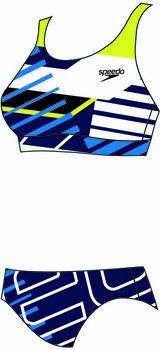 Speedo Placement U-Back bikini Dames Blauw