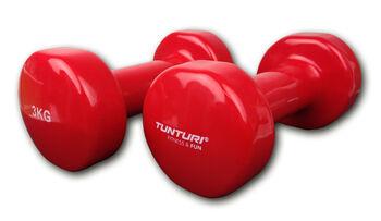 tunturi vinyl dumbbells 3.0kg, red, pair Rood