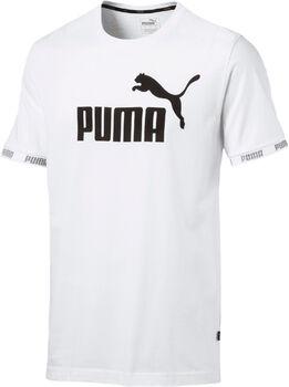 Puma Amplified Big Logo shirt Heren Wit