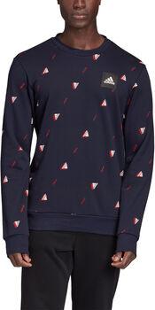 adidas Must Haves Graphic sweater Heren Blauw