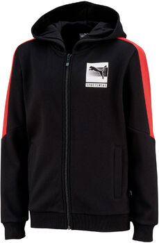 Puma Hooded FullZip kids fleece Jongens Zwart