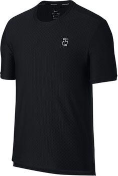 Nike Court Tennis shirt Heren Zwart