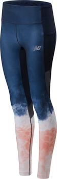 New Balance Premium Printed Impact Run legging Dames Blauw