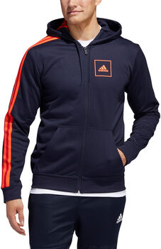 adidas 3-Stripes Piqué hoodie Heren Blauw
