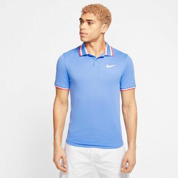 Nike Court Slam polo Heren Blauw