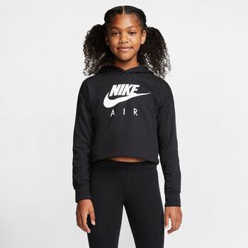 Nike Air Cropped hoodie Meisjes Zwart