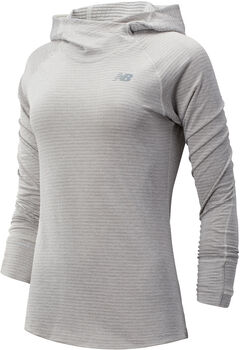 New Balance Heatgrid hoodie Dames Ecru