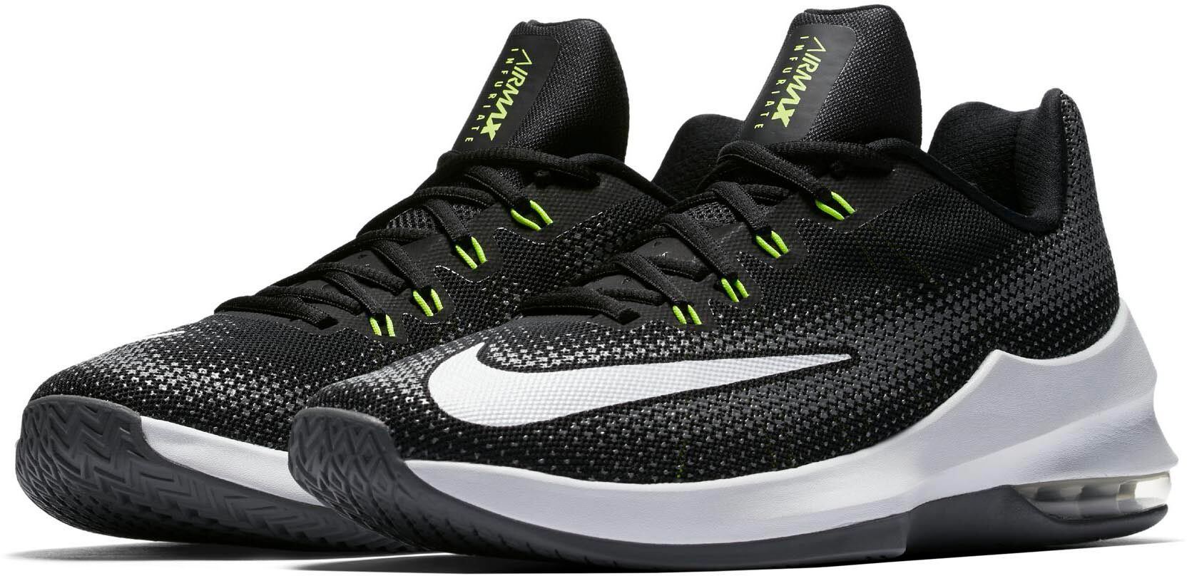 Nike Air Max Infuriate basketbalschoenen Heren Zwart