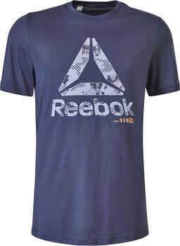 Reebok Actron Graphic shirt Heren Blauw
