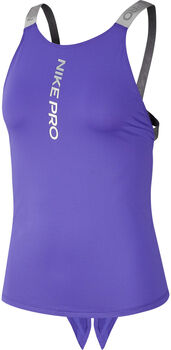 Nike Pro Graphic top Dames Paars