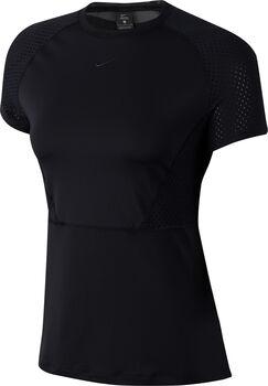 Nike Pro Mesh shirt Dames Zwart