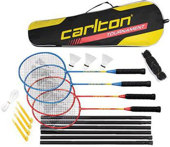 Carlton Tournament 4-player badmintonset Rood