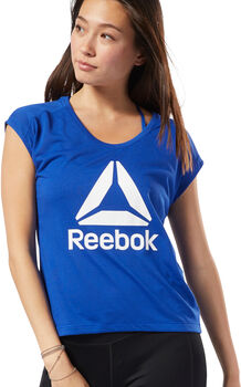 Reebok Workout Ready Supremium 2.0 Big Logo shirt Dames Blauw