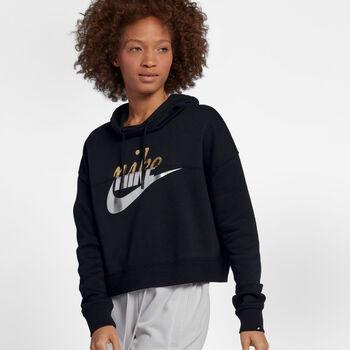Nike Sportswear Metallic hoodie Dames Zwart
