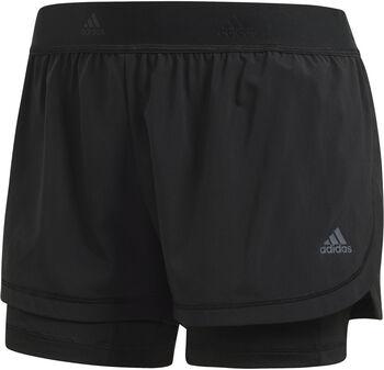 Adidas Twee-in-Een short Dames Zwart