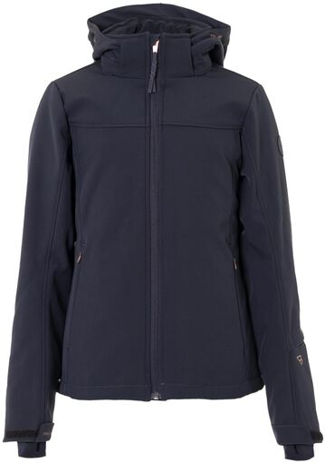 Het ariesta softshell jr ski jack van brunotti is ideaal om te dragen tijdens het skiën of snowboarden. de ...