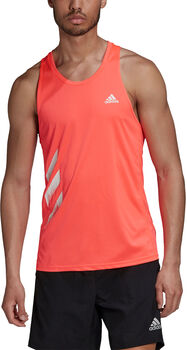 adidas Own the Run 3-Stripes singlet Heren Rood