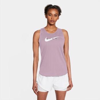 Nike Swoosh Run tanktop Dames Paars