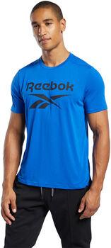 Reebok Workout Ready Supremium Graphic shirt Heren Blauw