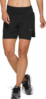 ASICS Road 2-n-1 5.5-inch short Dames Zwart