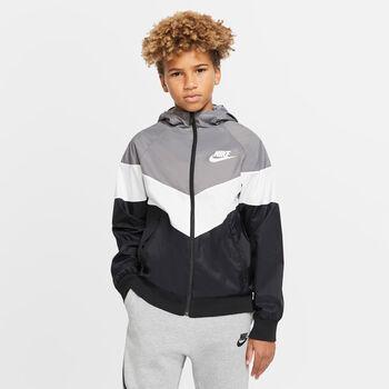 Nike Sportswear Hooded kids jack Jongens Grijs