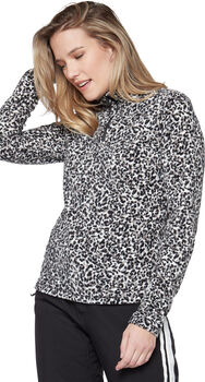 Protest Fuzzy 1/4 Zip sweater Dames Wit