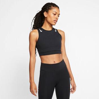 Nike AeroSwift Running croptop Dames Zwart