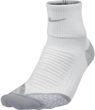 Nike Elite Cushion Quarter runningsokken Heren Wit