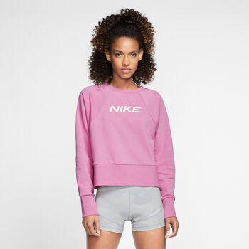 Nike Dri-FIT Get Fit Fleece sweater Dames Roze