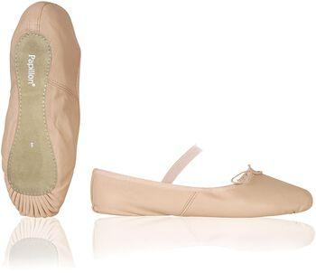 Papillon balletschoen leer Meisjes Roze