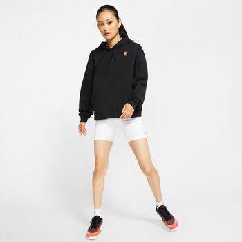 Nike Court Heritage hoodie Dames Zwart
