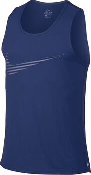Nike  dry contr tank graphic Heren Blauw