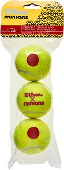 Wilson Minions Stage 3 3-tin tennisballen Rood