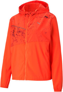 Puma Run Graphic Hooded jas Dames Oranje